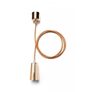 Suspension Design Câble et Cache-Douille Cuivre - Plumen WADIGA