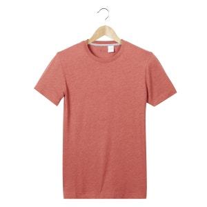 T-shirt com gola redonda, mangas curtas La Redoute Collections