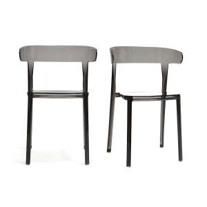 Chaises design lot de 2 empilables PARADISE MILIBOO