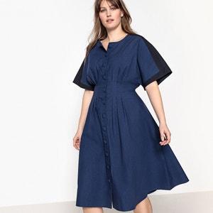 Short Flared Dress with Short Sleeves CASTALUNA