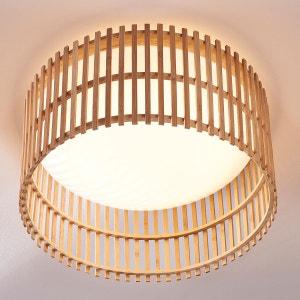 Joli plafonnier LED Leja avec bâtonnets de bambou LAMPENWELT