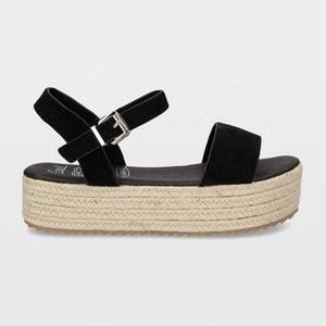 Sandalen mit Keilabsatz, Veloursleder COOLWAY
