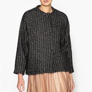 Veste ample bicolore en laine mélangée POMANDERE