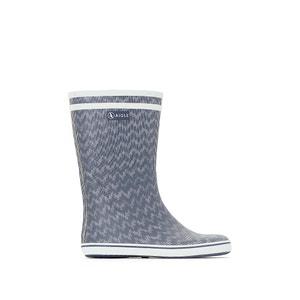 Stivali per la pioggia fantasia spigata Malouine AIGLE