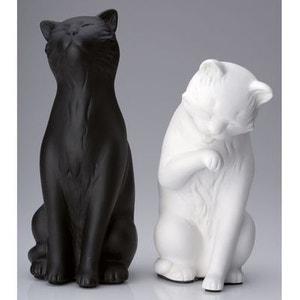 Serre Livres 2 Chats Noir/Blanc 3COM