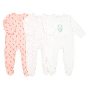 Lot de 3 pyjamas en coton 0 mois - 3 ans Oeko Tex La Redoute Collections