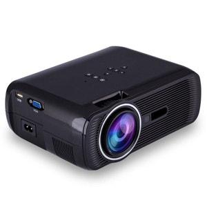 Mini vidéoprojecteur portable LED 1000 Lumens HD Carte SD USB Noir Yonis