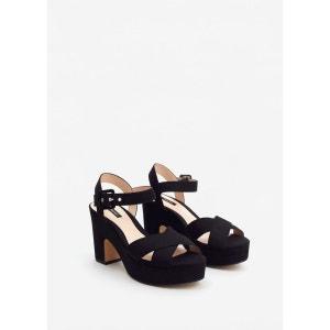 Sandales croisées plateforme MANGO