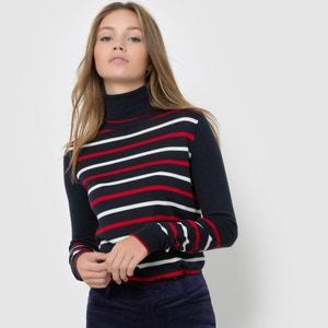 Wool Mix Striped Roll Neck Jumper R essentiel
