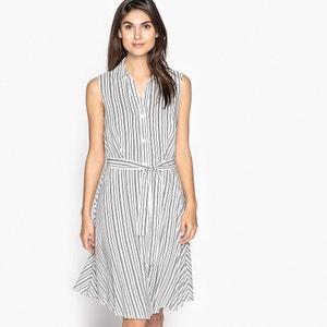 Striped Shirt Style Dress with Tie Waist ANNE WEYBURN