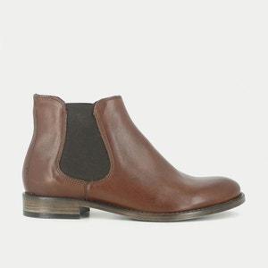 Boots cuir talon plat Tina JONAK
