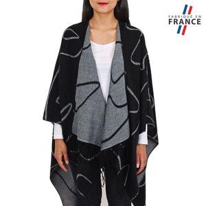 Poncho Silea Noir - Fabriqué en France QUALICOQ