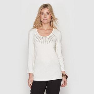 T-shirt in katoen/modal ANNE WEYBURN