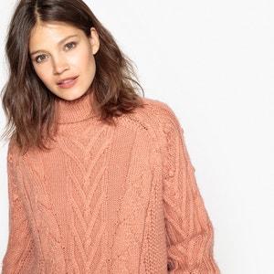 Пуловер-водолазка шерстяной La Redoute Collections