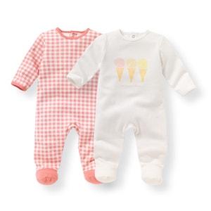 Комплект из 2 пижам для новорожденного из велюра, 0 мес. - 3 года