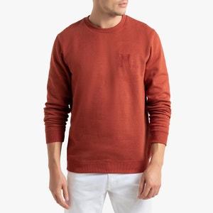 Sweater met ronde hals en borduursel op de borst