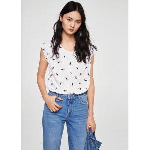 T-shirt coton imprimé MANGO
