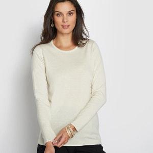 Jersey con cuello redondo de lana, seda y cachemir ANNE WEYBURN