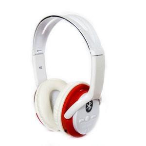 Bat Music - FD-BT-668S - Casque audio Bluetooth Stéréo Rouge NONAME