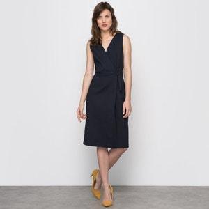Sleeveless Wrap Dress with Belt atelier R