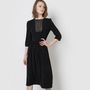 Midi jurk met plastron in kant MADEMOISELLE R