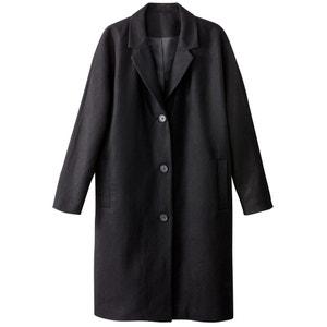 Пальто оверсайз из шерсти La Redoute Collections