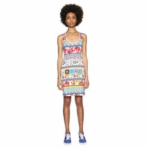 Korte rechte jurk zonder mouwen met grafische print DESIGUAL