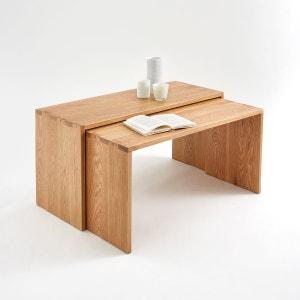 Tables basses gigognes, chêne massif, Crueso, lot La Redoute Interieurs
