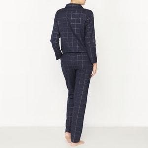Tuta intera-pigiama cotone quadri fili metalliscenti La Redoute Collections