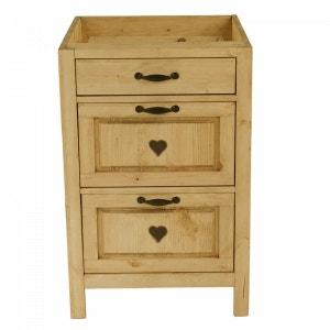 meuble bas tiroir coulissant la redoute. Black Bedroom Furniture Sets. Home Design Ideas