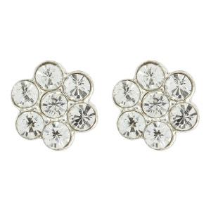 Boucles d'oreilles Clous Fille Argent 925 - Cristal- Fleur - Blanc SO CHIC BIJOUX
