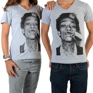 Tee Shirt Little Eleven Paris Wiz SS Mixte (Garçon / Fille) Wiz Khalifa Gris LITTLE ELEVENPARIS