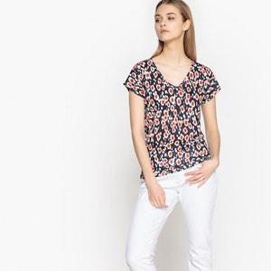 Tee shirt col v imprimé, manches courtes La Redoute Collections