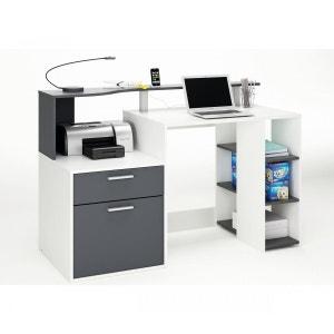 Bureau ordinateur compact gris graphite TERRE DE NUIT