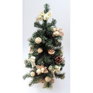 Sapin de Noël artificiel - Avec décoration ivoire et doré ! NONAME