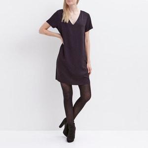 Kleid, gerade geschnitten, kurze Ärmel, V-Ausschnitt hinten VILA