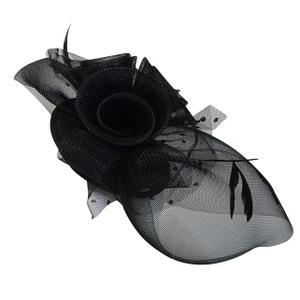 Chapeau de cérémonie bibi noir plumes CHAPEAU-TENDANCE