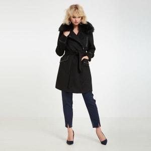 Manteau mi-long en laine mélangée MORGAN