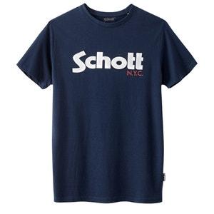 T-shirt com gola redonda e logótipo SCHOTT