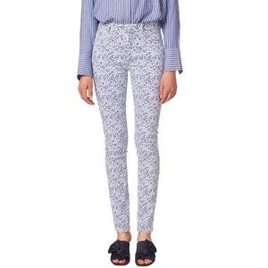 Pantalon slim, imprimé ESPRIT
