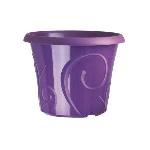 Pots de fleur 25 litres Volutes Violet + soucoupe CEP AGRICULTURE