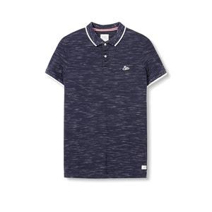 Poloshirt aus reiner, geflammter Baumwolle ESPRIT