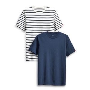 Lote 2 T-shirts, gola redonda LEVI'S