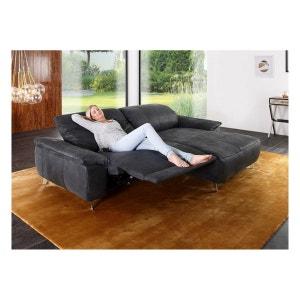 Canapé angle tissu de relaxation PARKER RELAX 3 places avec chaise longue SEANROYALE