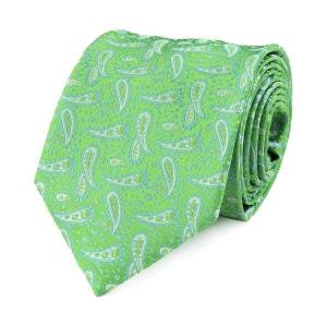 Cravate paisley vert VIRTUOSE