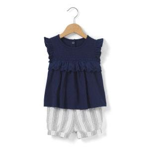 Ensemble T-shirt + short rayé 1 mois-3 ans R mini