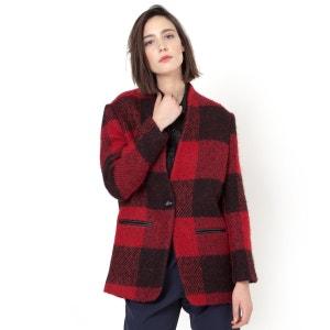 Casaco aos quadrados grandes Emma, grande percentagem de algodão SUNCOO