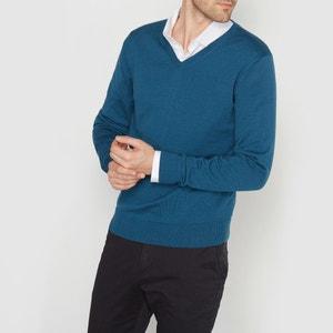 Camisola com decote em V 100% algodão R essentiel