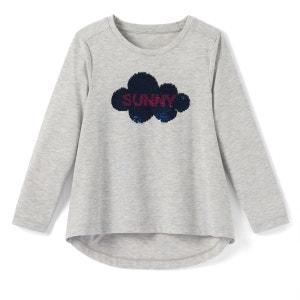 T-shirt sequins réversibles nuage 3-12 ans La Redoute Collections