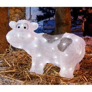 Superbe décoration de Noël ! - Vache lumineuse acrylique coloré - 48 LED blanches fixes - Intérieur et extérieur ! NONAME